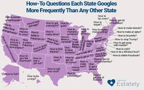 Electoral Votes Per State Map by How To Questions Each State Googles More Frequently Than Any Other