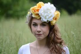 festival headbands big rustic flower crown yellow white looking wedding boho