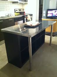 tiny kitchen island ideas with chrome metal kitchen table and