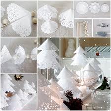 diy doily paper christmas tree tutorial usefuldiy com