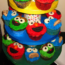 sesame decorations sesame cupcakes two