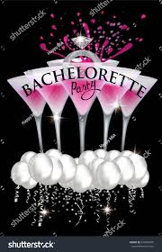 bachelorette party banner ring air balloons stock vector 670485076