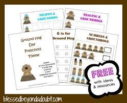 free groundhog preschool theme printables ideas blessed