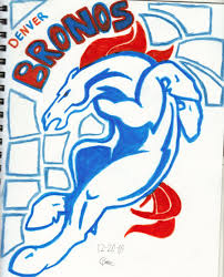 denver broncos logo colouring pages panthers at broncos bronco