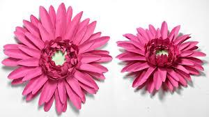 gerbera daisy paper flower diy tutorial paper flowers easy for