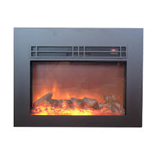 Electric Fireplace Insert Y Decor True 26 In Electric Fireplace Insert In Sleek Black