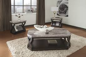 set of three end tables ashley t568 13 radylin faux marble top three piece coffee table set
