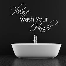 please wash your hands wall sticker quote chimp please wash your hands wall sticker quote