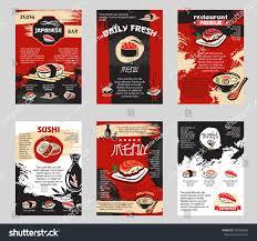 japanese cuisine sushi bar asian restaurant stock vector 709589689