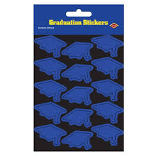 graduation cap stickers blue graduation cap stickers partycheap