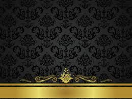 powerpoint design gold free black golden floral design backgrounds for powerpoint