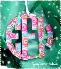 monogram christmas monogram christmas ornament lilly pulitzer inspired patterns