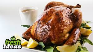 24 best thanksgiving turkey recipes images on kitchens roast turkey recipe with honey mustard glaze and thyme and pancetta