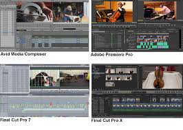 final cut pro vs avid media composer vs adobe premiere editors