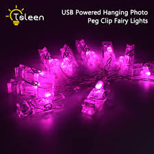 usb office fairy lights warm white colorful 40 20 led 5v usb photo clip string lights