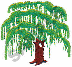 weeping willow tree embroidery designs machine embroidery designs