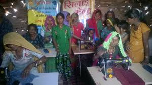 project empowering women via sewing machines unit u0027s skill training