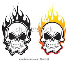 coloring pages of flames flaming skull stock images royalty free images u0026 vectors