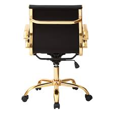 Black Leather Office Chairs Gold Office Chair Crafts Home
