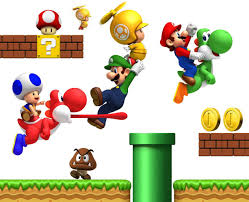 blik super mario bros re stick wall decals online baby store wii wall decals new super mario wall stickers new super mario bros