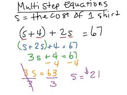 solving multi step equations math algebra showme