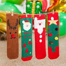 christmas socks christmas socks child boy girl in sock cotton kid winter