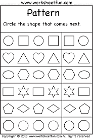 First Grade Geometry Worksheets Best 25 Shape Patterns Ideas On Pinterest Math Patterns Free