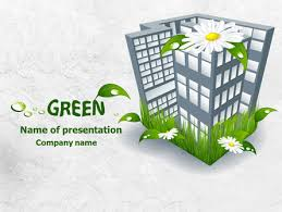 green building powerpoint template backgrounds 07853