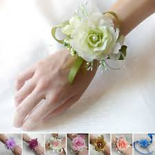wedding wrist corsage wedding prom bridal wrist corsage artificial silk