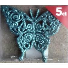 ornaments 5 blue glitter butterfly ornaments 11street malaysia