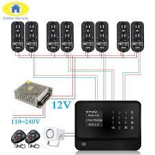 g90b plus wifi gsm gprs alarm system sensor detector diy kit alarm