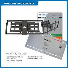 Tv Wall Mount Hardware Qualgear Heavy Duty Full Motion Tv Wall Mount For 60 100 Inch