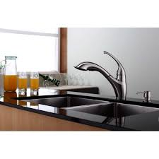 kraus kpf 2210 ksd 30sn single lever pull out kitchen faucet and