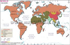 hinduism map religion map