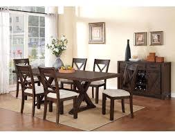70 excellent lena 7 piece dining room set cherry leons lena 7