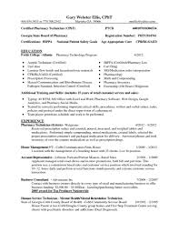 Resume Sample Pharmacy Technician by Bls Certification On Resume Resume For Your Job Application