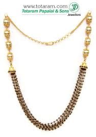 black diamonds necklace images 22k gold necklace with black diamond beads south sea pearls jpg