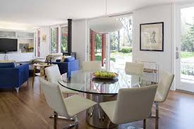 york glass dining room modern with pedestal table tables