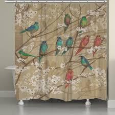 Threshold Aqua Peach Birds Floral Floral Shower Curtains Shop The Best Deals For Dec 2017