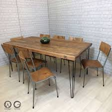 Dining Tables Farmhouse Kitchen Table Sets Industrial Reclaimed by