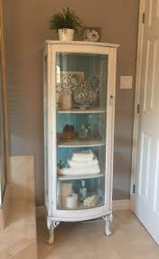 cherry curio cabinets cheap sensational small curio cabinet shabby chic make over painted with a