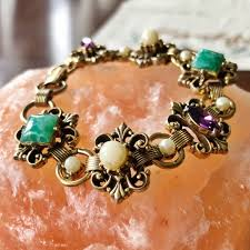 gemstone link bracelet images Vintage jewelry stone link bracelet 7 poshmark jpg
