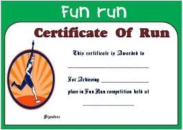 fun certificate templates fun run certificate template 14 editable free word templates