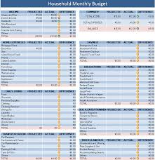Household Expense Spreadsheet Monthly Household Budget Template Thebridgesummit Co
