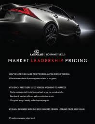 lexus pre owned toronto market leadership pricing northwest lexus
