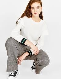 frilly blouse blouses shirts clothing bershka united kingdom