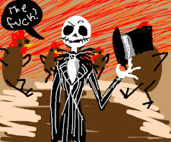 skellington went to thanksgiving town
