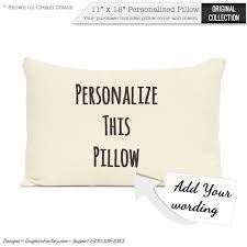 personalized pillow custom monogram pillow home decor personalized throw pillows