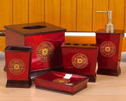 Red Bathroom Accessories Sets by 10 Best Red And Gold Bathroom Images On Pinterest Bathroom Ideas