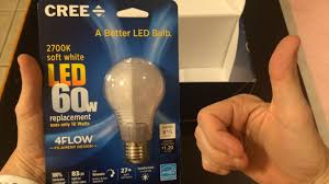 unboxing the new cree led bulb 2015 60w soft white replacement